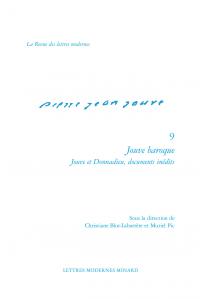 Chr. Blot-Labarrère, M. Pic (dir.), Jouve baroque - Jouve et Donnadieu, documents inédits