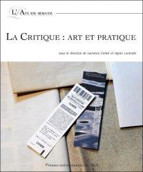 L. Corbel, A. Lontrade (dir.), La Critique : art et pratique