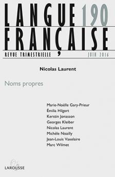 Langue française, n° 190 : Noms propres (N. Laurent dir.)