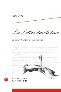 La Lettre clandestine, 2016, n° 24 : Varia
