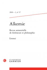 Alkemie, n° 17 :