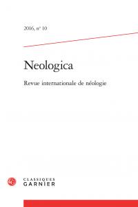 Neologica, 2016, n° 10