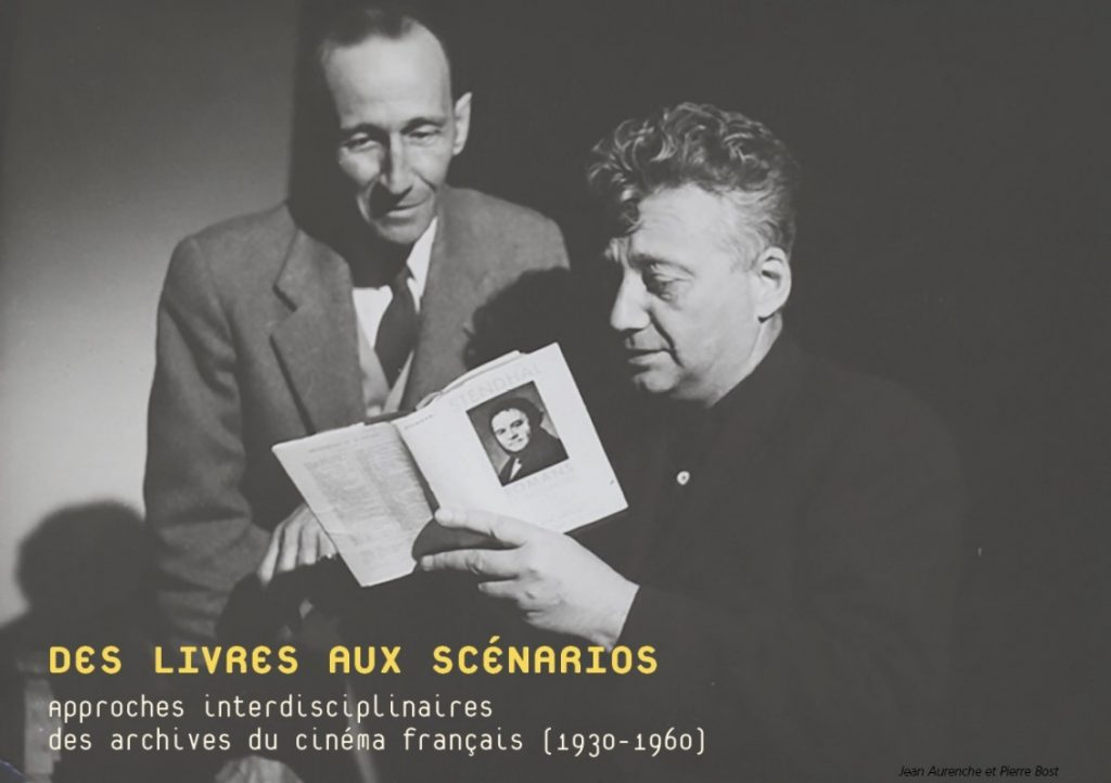 Des livres aux scénarios. Approches interdisciplinaires des archives du cinéma français 1930-1960 (Lausanne)