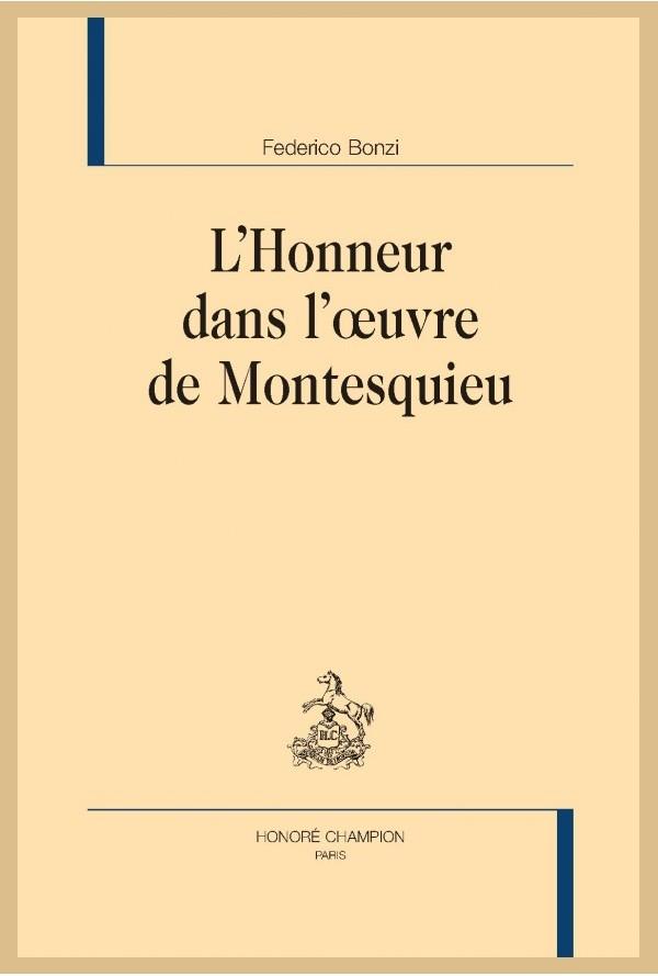 F. Bonzi, L'Honneur dans l'œuvre de Montesquieu,