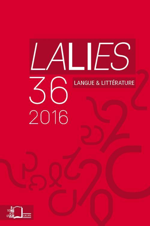 Lalies n° 36 (L'espace tragique)