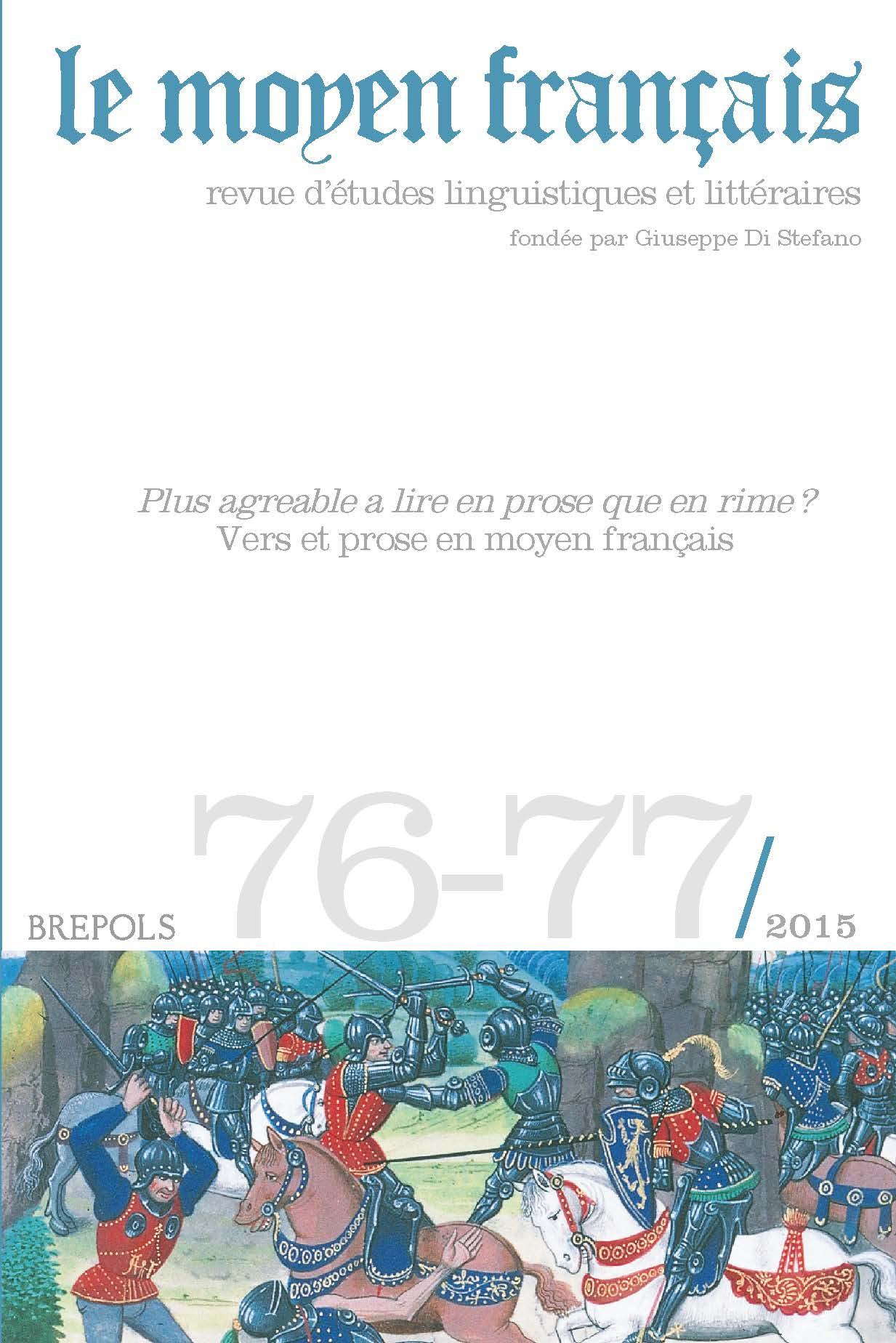 Le Moyen Français, n° 76-77 :