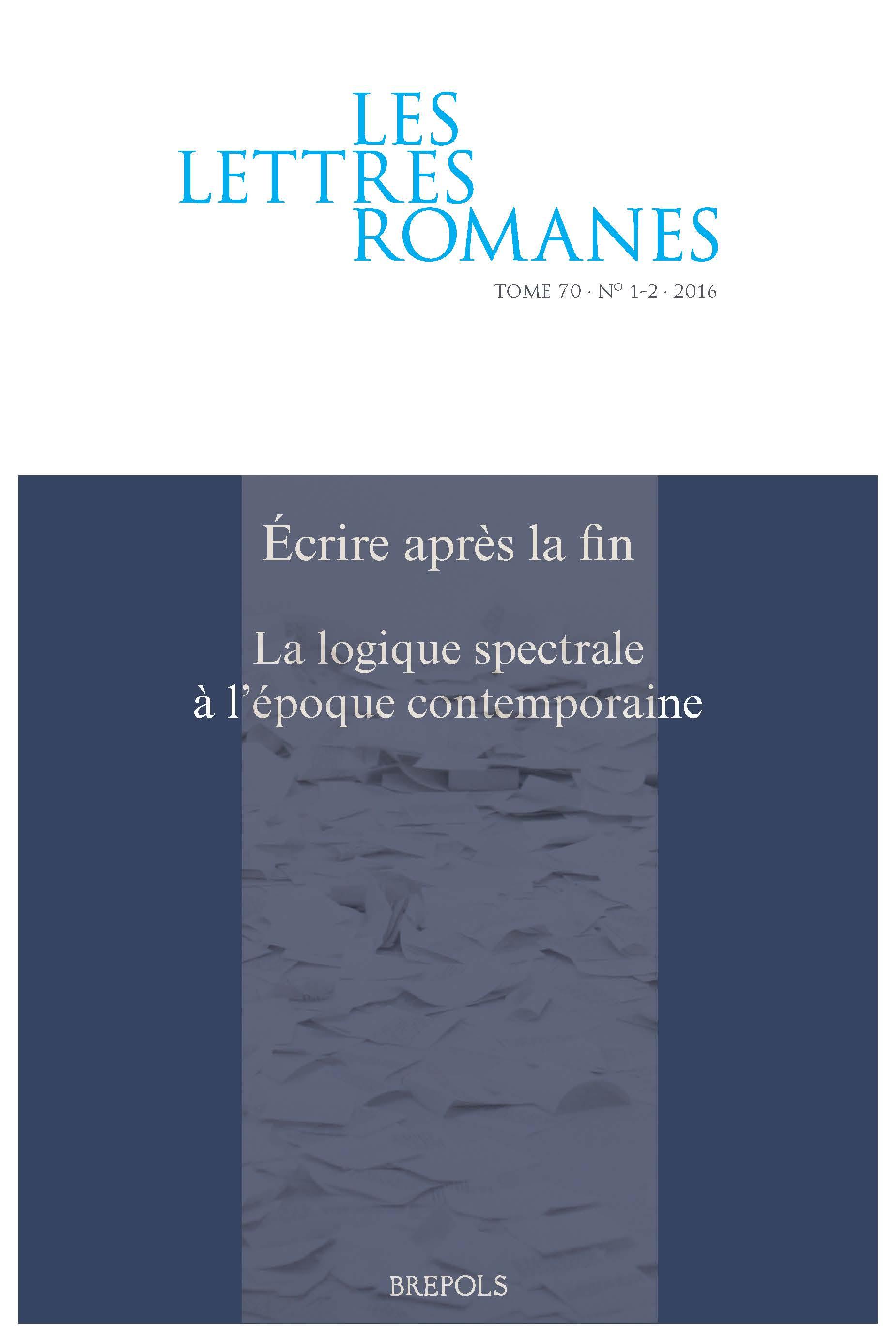 Les Lettres romanes, 70.1-2 :
