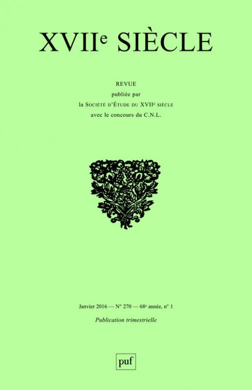 XVIIe siècle, n° 3 – 2016 :