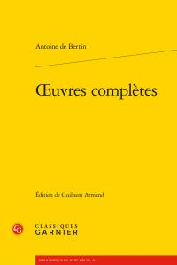 A. de Bertin, Œuvres complètes (éd. G. Armand)
