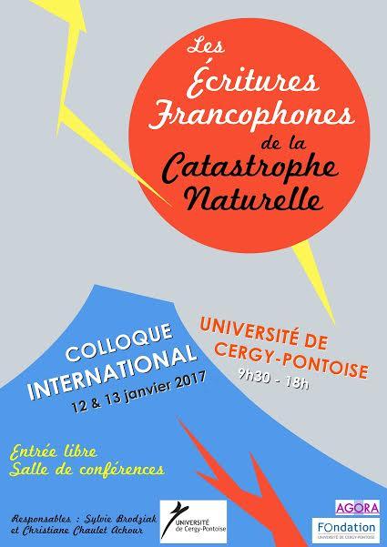 Les écritures francophones de la catastrophe naturelle
