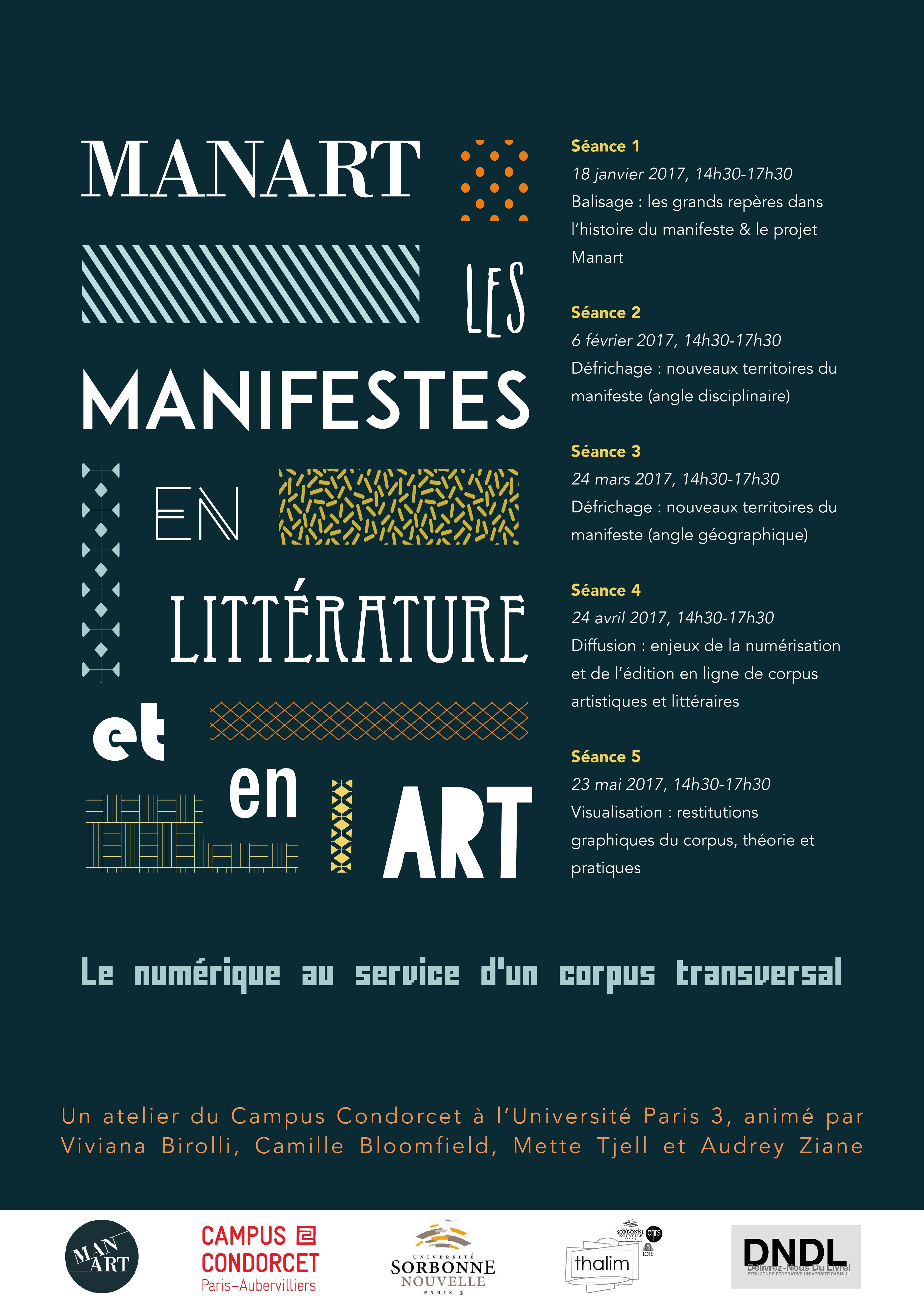 Manart, les manifestes en littérature et en art : le numérique au service d'un corpus transversal