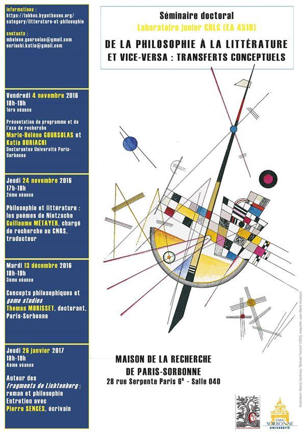 Philosophie et littérature (2) : « Expérience de jeu et expérience de lecture » Critiques littéraires, concepts philosophiques et game studies (Thomas Morisset)