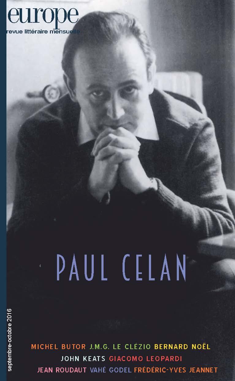 Europe n°1049-1050, «Paul Celan»