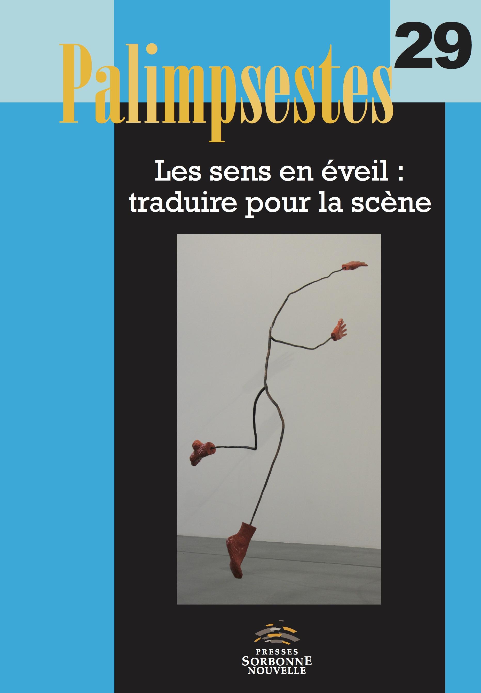 B. Poncharal & I. Guérin (dir.), Les sens en éveil: traduire pour la scène