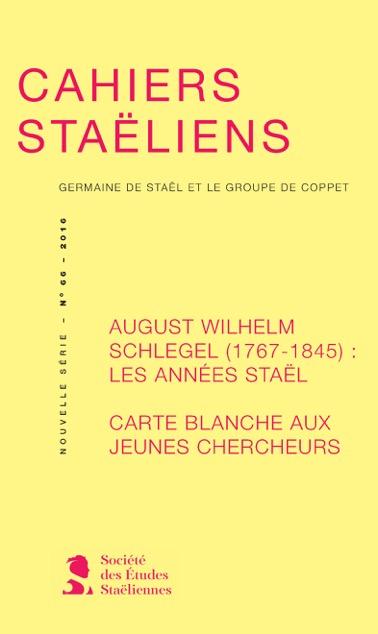 Cahiers staëliens n°66 :