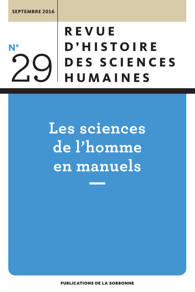 Revue d'histoire des sciences humaines, n° 29,