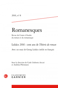 Romanesques, 2016, n° 8 :
