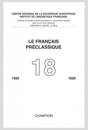 Le Français préclassique, n° 18