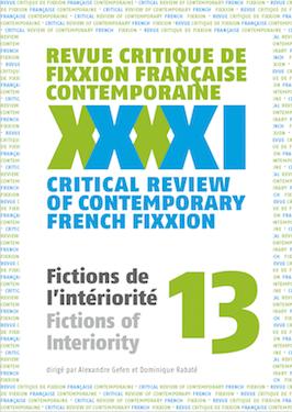<em>Fixxion </em>n° 13: Fictions de l'intériorité (A. Gefen & D. Rabaté, dir.)