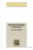 <em>Pratiques</em>, n° 169-170 :