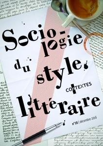 COnTEXTES, n° 18 : « Sociologie du style littéraire »