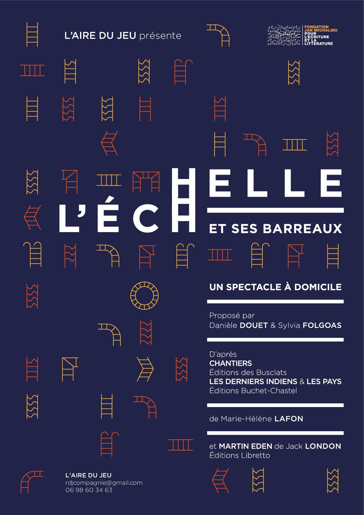 Spectacle littéraire L'échelle et ses barreaux, d'après des textes de Marie-Hélène Lafon (Fondation Jan Michalski, Suisse)