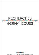 Recherches Germaniques, n° 46