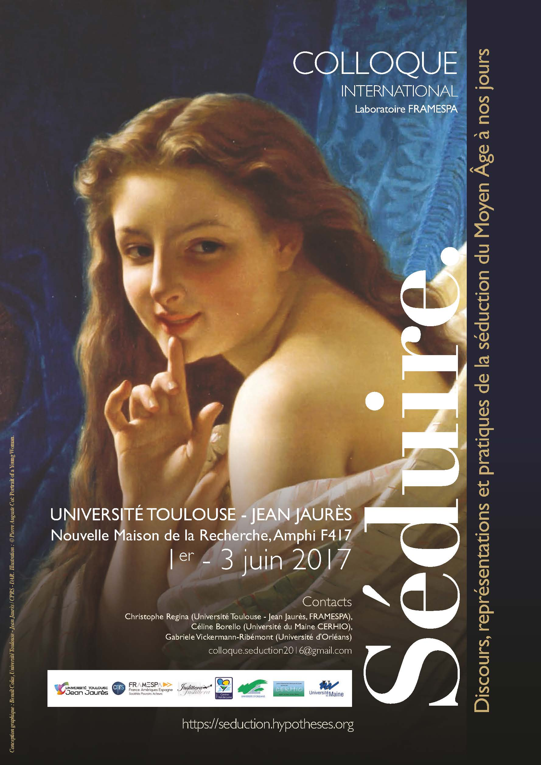 Séduire. Discours, représentations et pratiques de la séduction du Moyen-âge à nos jours (Toulouse)