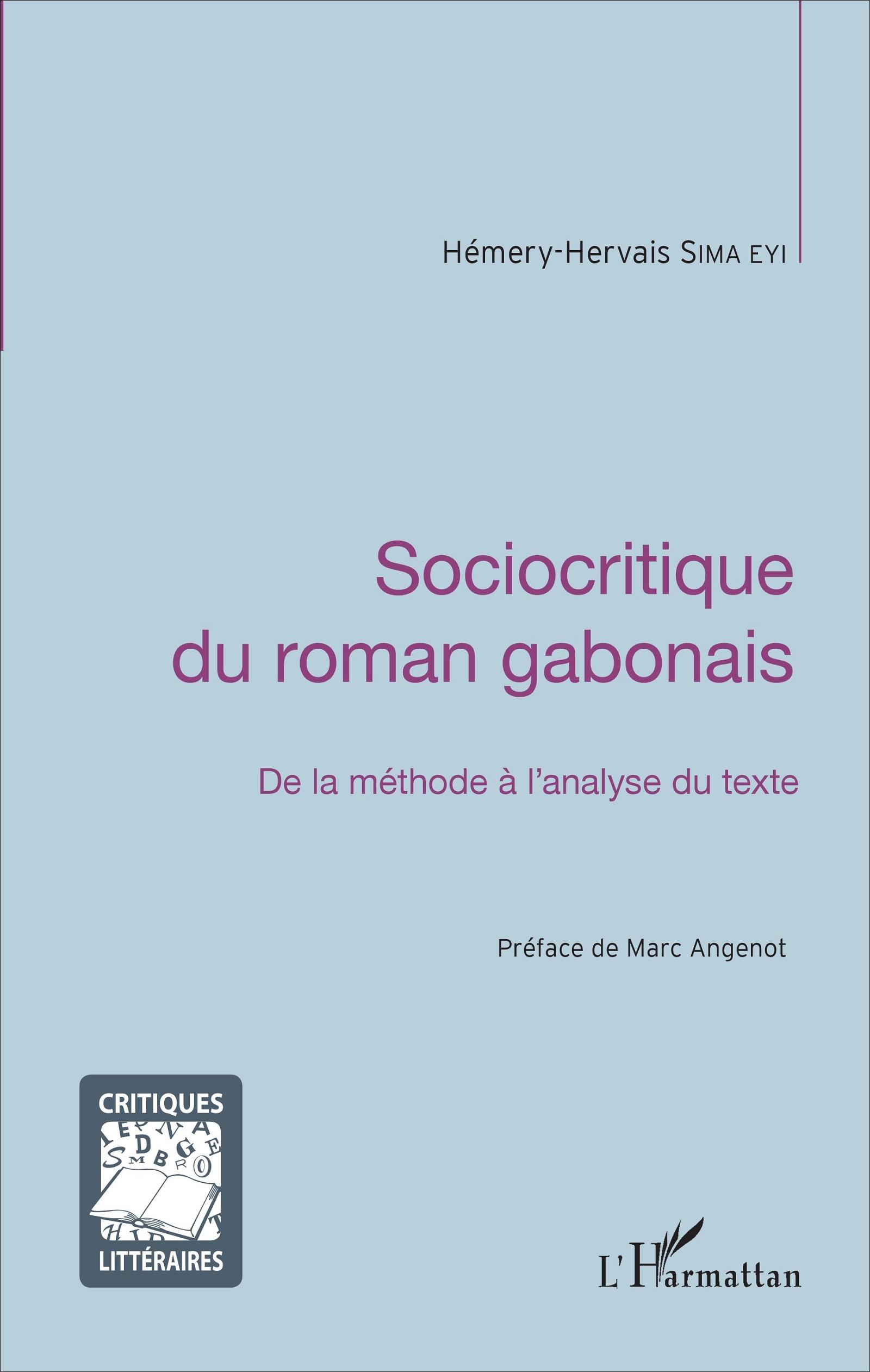 H.-H. Sima Eyi, Sociocritique du roman gabonais