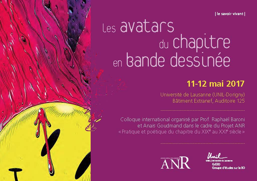 Les avatars du chapitre en bande dessinée (Université de Lausanne)