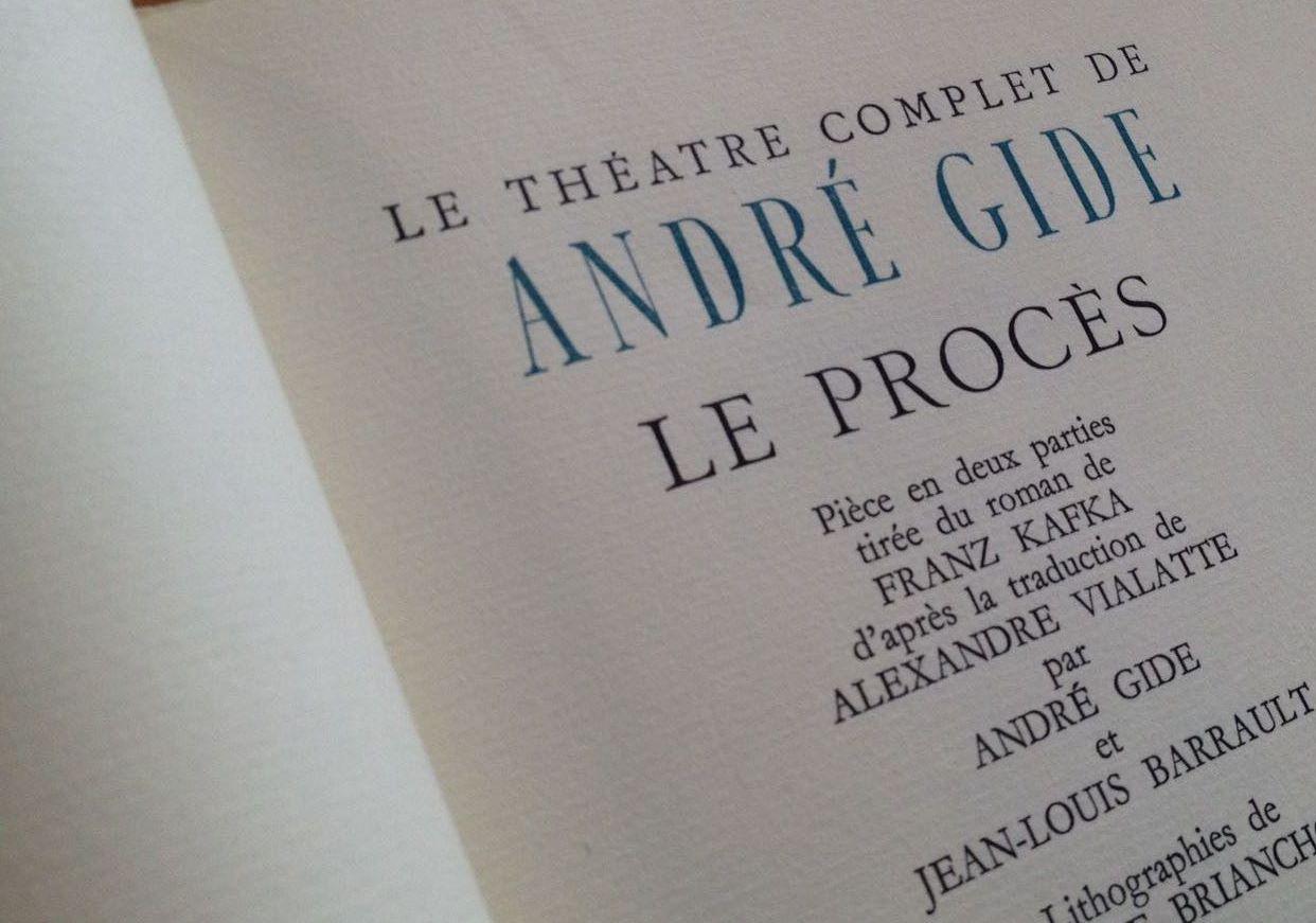 André Gide et le théâtre. Un parcours à re-tracer (Paris)