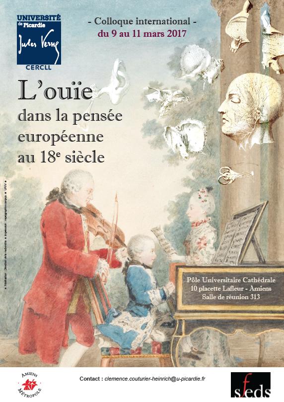 L'ouïe dans la pensée européenne au XVIIIe siècle (Amiens)