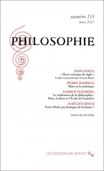 Philosophie, n° 133 :