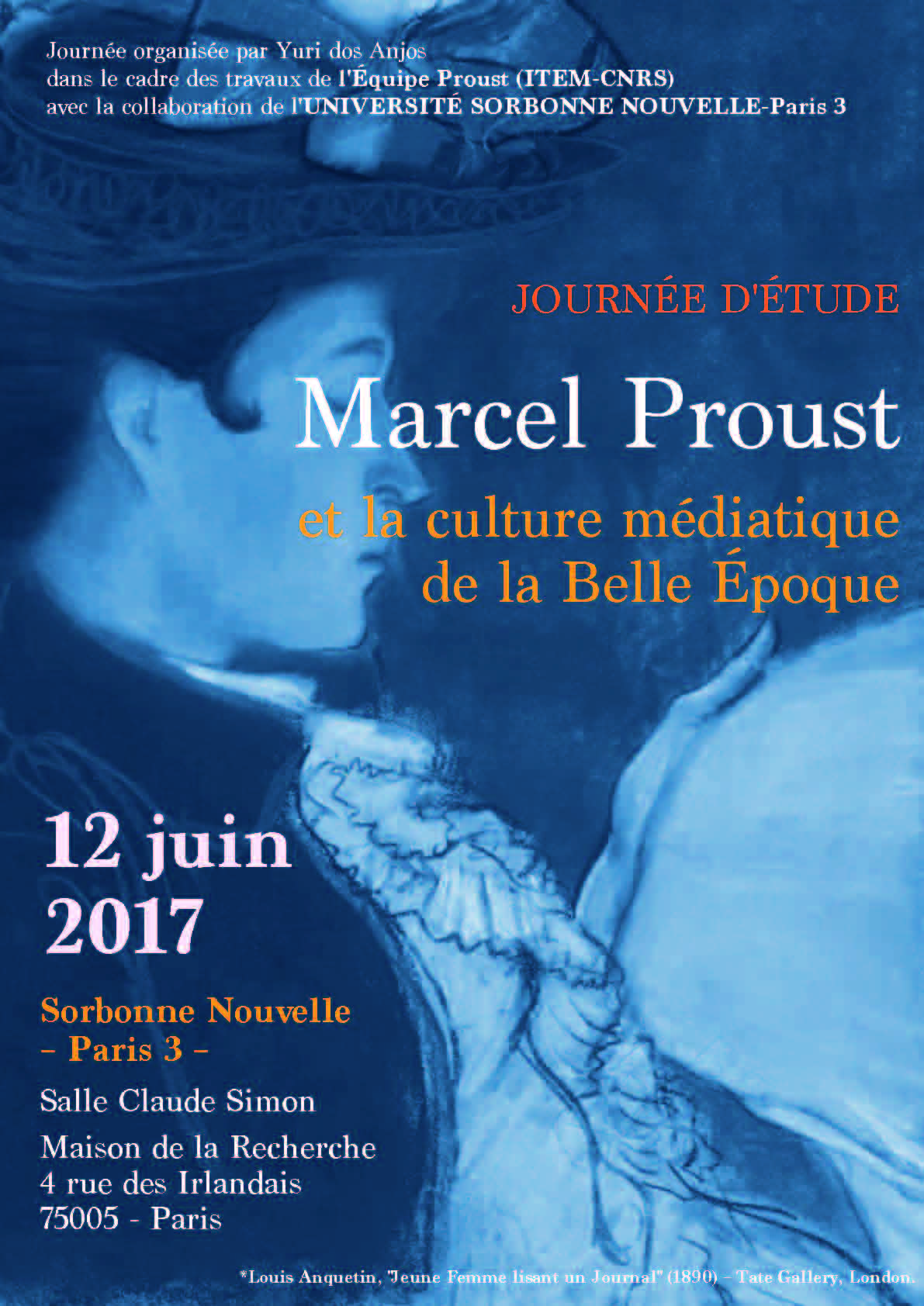 Marcel Proust et la culture médiatique de la Belle Époque (Paris 3)