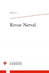 Revue Nerval, 2017, n° 1
