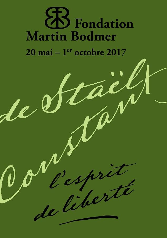 Germaine de Staël et Benjamin Constant. L'esprit de liberté (Fondation Bodmer, Genève)