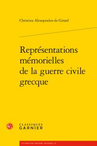 C. Alexopoulos-de Girard, Représentations mémorielles de la guerre civile grecque