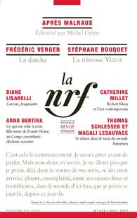 Nouvelle Revue Française, n° 624, mai 2017