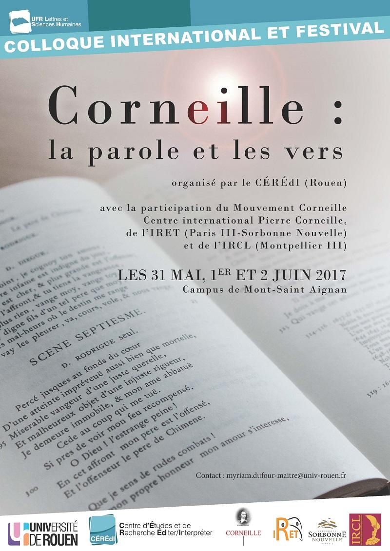 Corneille : la parole et les vers (Rouen)