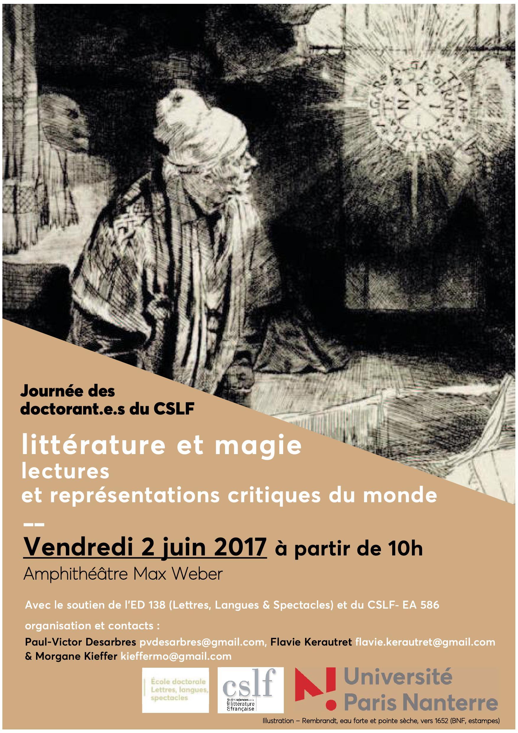 Littérature et magie : lectures et représentations critiques du monde (Nanterre)