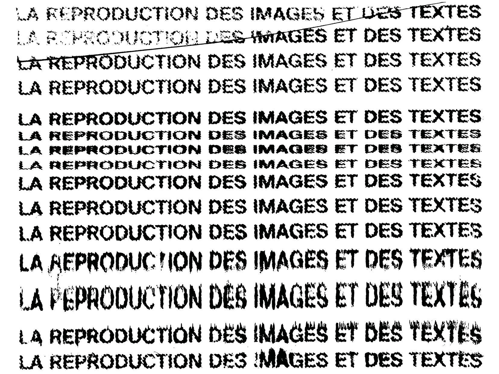 La reproduction des images et des textes (XIe colloque de l'International Association of Word and Image Studies, Lausanne)