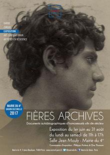 Fières archives : documents autobiographiques d'homosexuels fin de siècle (Paris)