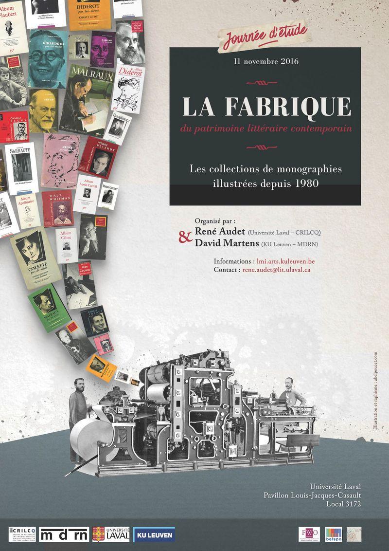 R. Audet &amp; D. Martens (dir.), <em>La fabrique du patrimoine littéraire contemporain. Les collections de monographies illustrées depuis 1980</em> (sur Vimeo)