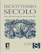 <em>Diciottesimo Secolo. Rivista della Società Italiana di Studi sul Secolo XVIII</em>, n° 2 :