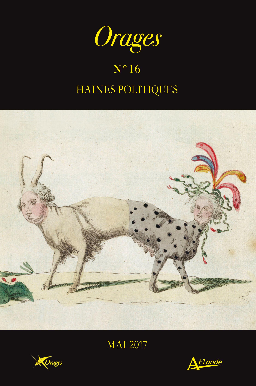 Orages. Littérature et culture 1760-1830, n°16 :