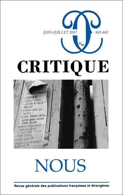 Critique, n. 840-841 :