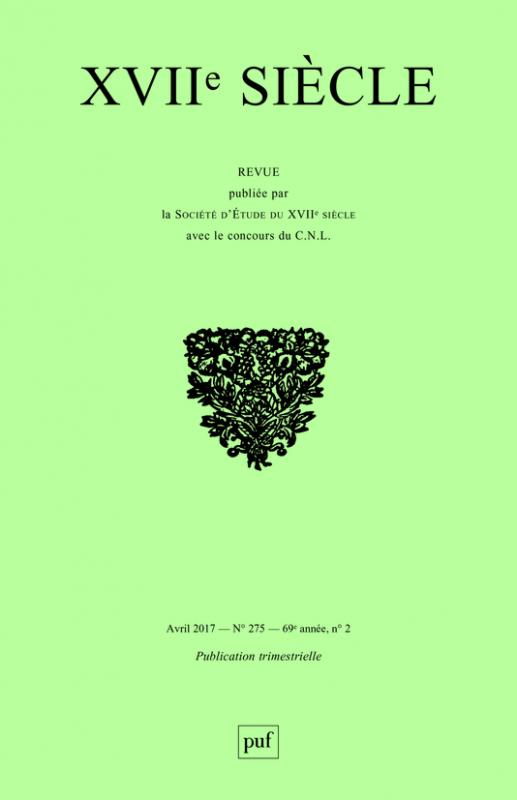 XVIIe Siècle, n° 275 :