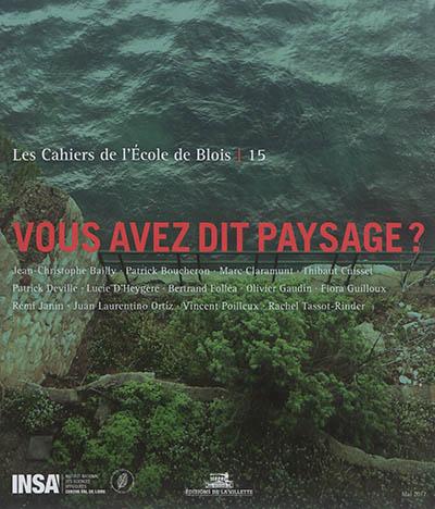 Les Cahiers de l'École de Blois, n°15 :