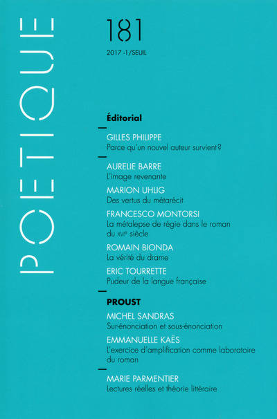 Poétique, n° 181