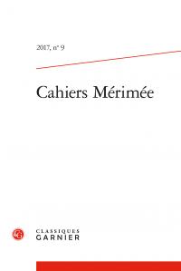 Cahiers Mérimée, 2017, n° 9